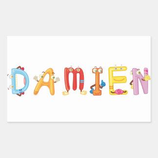 Etiqueta de Damien