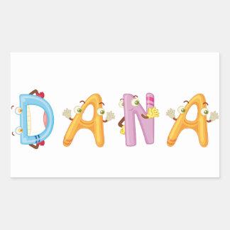 Etiqueta de Dana