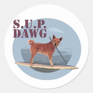 Etiqueta de Dawg do SUP