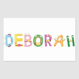 Etiqueta de Deborah