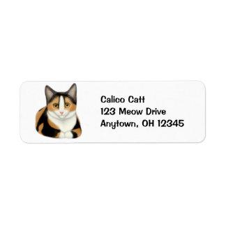 Etiqueta de descanso do gato de chita etiqueta endereço de retorno