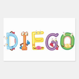 Etiqueta de Diego