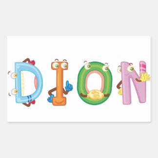 Etiqueta de Dion