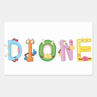 Etiqueta de Dione