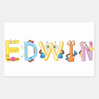 Etiqueta de Edwin
