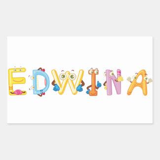 Etiqueta de Edwina