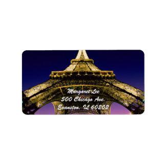 Etiqueta de Eiffel-Torre-Paris