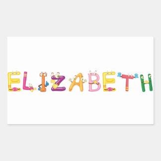 Etiqueta de Elizabeth