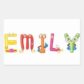 Etiqueta de Emily