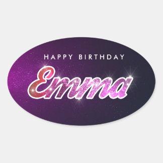 Etiqueta de Emma do feliz aniversario