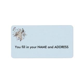 ETIQUETA de endereço