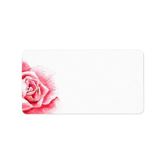 Etiqueta De Endereço Aguarela cor-de-rosa do vazio