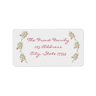 Etiqueta de endereço alegre & brilhante do Natal