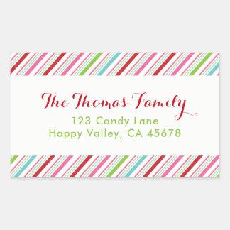 Etiqueta de endereço alegre e brilhante do feriado