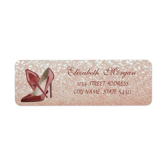 Etiqueta de endereço Bokeh-Alta Glittery elegante
