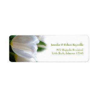 Etiqueta de endereço branca do casamento