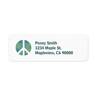Etiqueta de endereço calma da terra