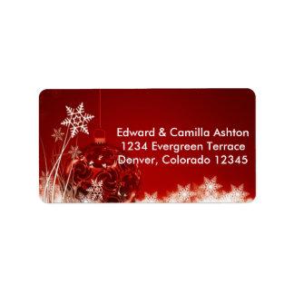 Etiqueta de endereço Customisable do Natal dos