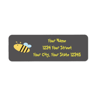 Etiqueta de endereço da abelha