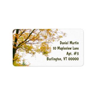 Etiqueta de endereço da árvore da queda, grande