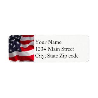 Etiqueta de endereço da bandeira