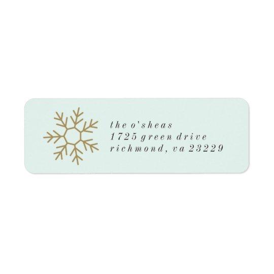 Etiqueta de endereço da beira do floco de neve