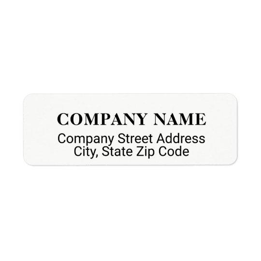 etiqueta de endereço da empresa com co. nome