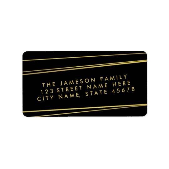 Etiqueta de endereço da folha de ouro do