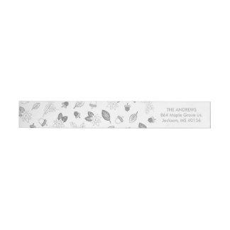 Etiqueta de endereço da folha de prata do falso da