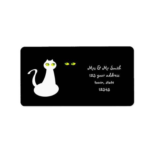 Etiqueta de endereço da Sra. e do Sr. Gato