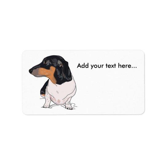 Etiqueta De Endereço Dança as etiquetas de endereço 2 do dachshund