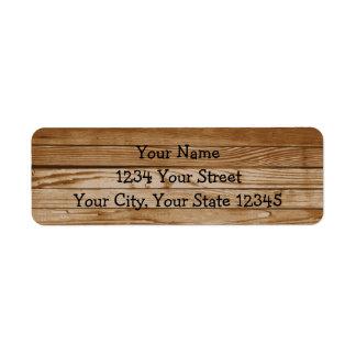 Etiqueta de endereço de madeira