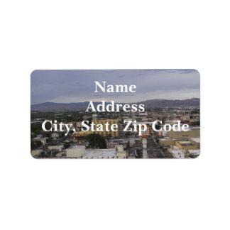 Etiqueta de endereço de Reno, Nevada