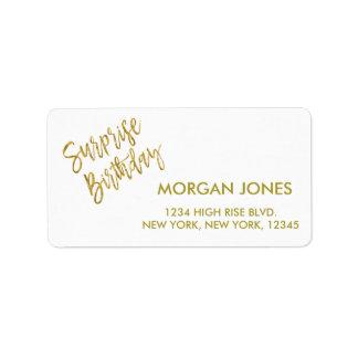 Etiqueta de endereço do aniversário da festa de