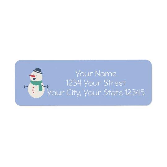 Etiqueta de endereço do boneco de neve