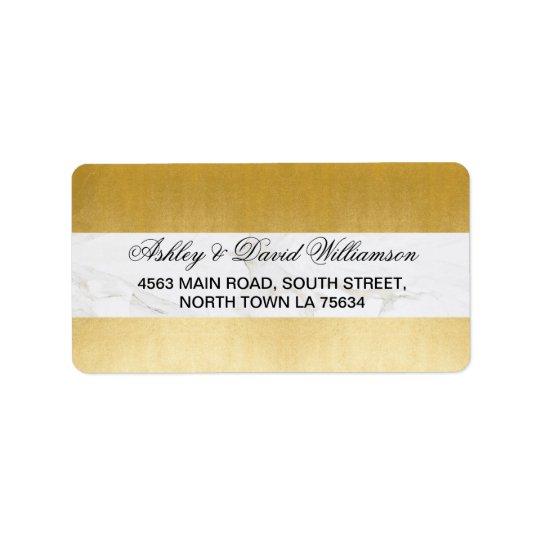 Etiqueta de endereço do casamento do impressão do
