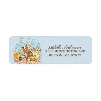 Etiqueta de endereço do chá de fraldas dos animais