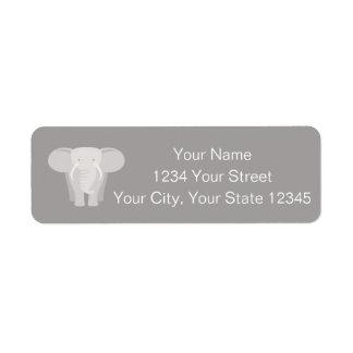 Etiqueta de endereço do elefante