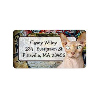 Etiqueta de endereço do fundo da arte da rua dos