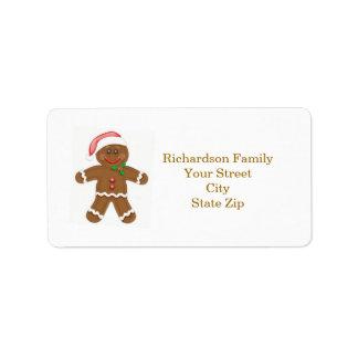 Etiqueta de endereço do Natal do homem de