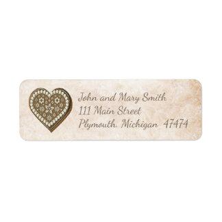 Etiqueta de endereço do Natal do pão-de-espécie