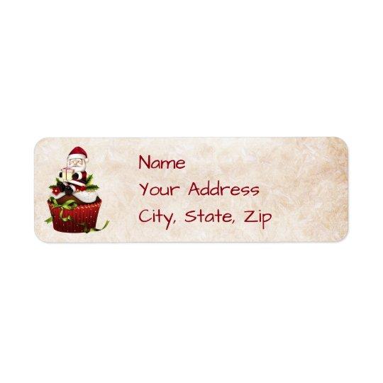 Etiqueta de endereço do Natal do papai noel