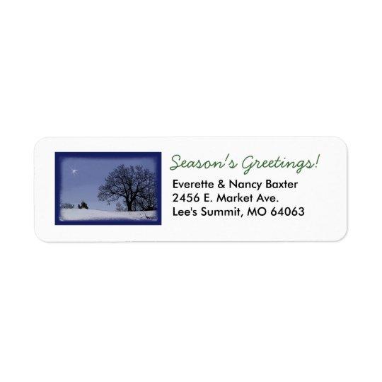 Etiqueta de endereço do Natal do trator