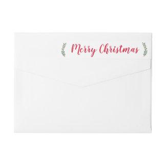 Etiqueta de endereço do Natal dos Sprigs do