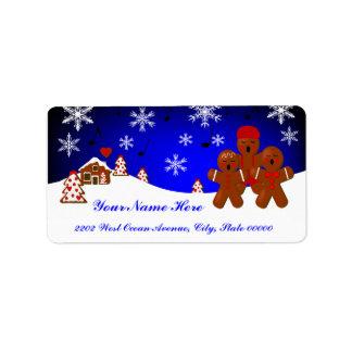 Etiqueta de endereço do pão-de-espécie do Natal