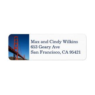 Etiqueta de endereço do remetente 2 de golden gate