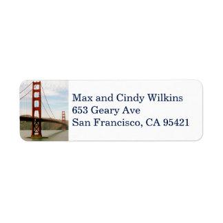 Etiqueta de endereço do remetente 3 de golden gate