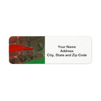 Etiqueta de endereço do remetente abstrata do
