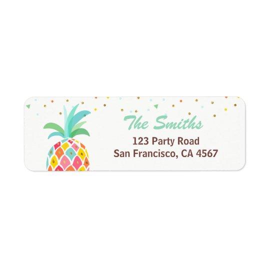 Etiqueta de endereço do remetente Aloha Luau