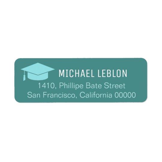 etiqueta de endereço do remetente azul com